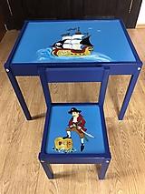 Nábytok - Stolík a stolička pre deti - 13048216_