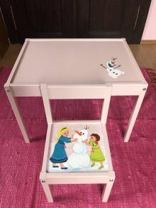Nábytok - Stolík a stolička pre deti - 13048234_