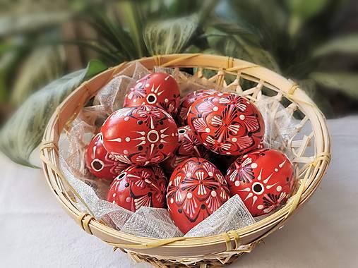 Dekorácie - Sada červených kraslíc - 13051292_