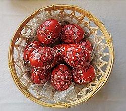 Dekorácie - Sada červených kraslíc - 13051294_