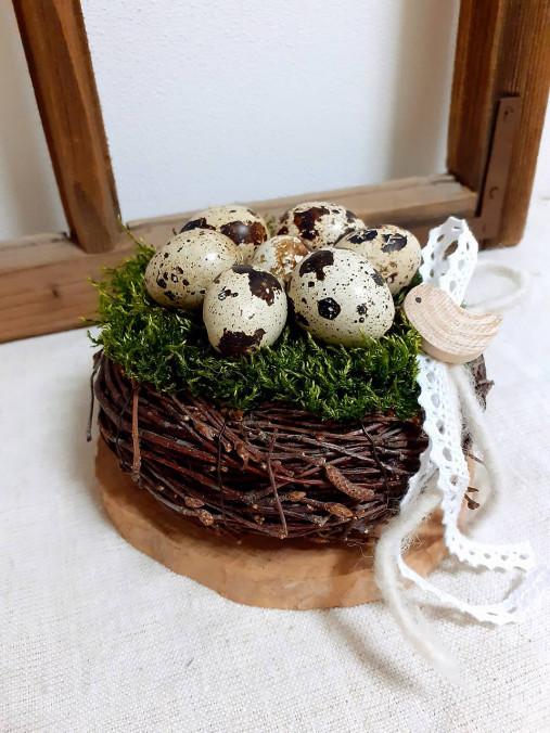 Dekorácie - Jarné hniezdočko - 13047600_