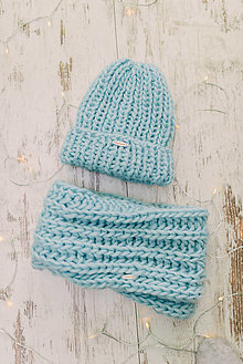Čiapky - Luxury set-100% vlna,čiapka a rukavice - 13053876_