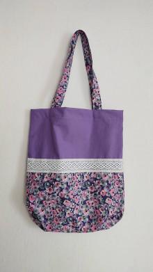 Nákupné tašky - nákupná taška - FIALET - 13056228_