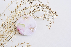 Odznaky/Brošne - Buttonky - hortenzia/bodky (Hortenzia) - 13056561_