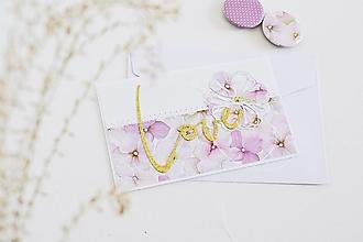 Papiernictvo - Svadobný pozdrav - hortenzie - 13056525_