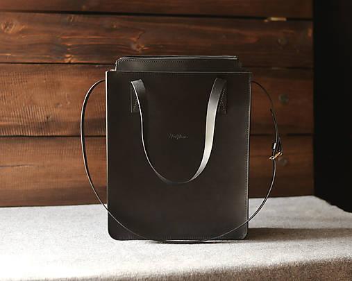 Veľké tašky - Odesa Black - kožená taška - 13056248_