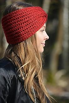 Ozdoby do vlasov - čelenka  v červené - 13053896_