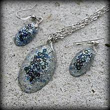 Sady šperkov - Modrotrblietavá sada - 13053308_