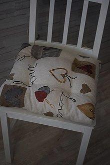 Úžitkový textil - PODSEDÁKY...srdce - 13053538_
