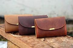 Peňaženky - Malá kožená peňaženka III. - 13055019_