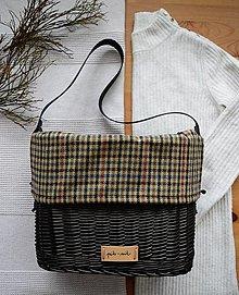 Kabelky - Prútená kabelka do ruky INVIERNO N°4 - tmavá - 13054139_