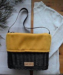 Kabelky - Prútená kabelka do ruky INVIERNO N°5 - tmavá - 13054144_