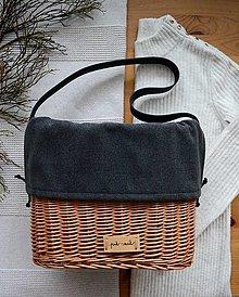 Kabelky - Prútená kabelka do ruky INVIERNO N°3 - 13054158_