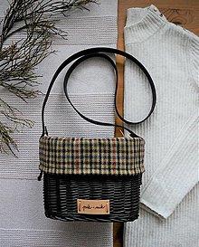 Kabelky - Malá prútená kabelka na rameno INVIERNO N°4 - 13054347_