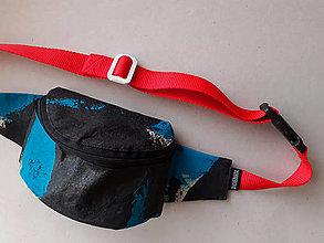 Kabelky - Ladvinka Černá / Modrá se zipem - 13056027_