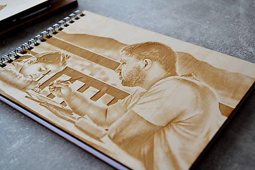 Drevený skicár s fotografiou A5