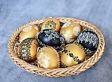 Dekorácie - Slepačia kraslica madeirová zlatá - 13057567_