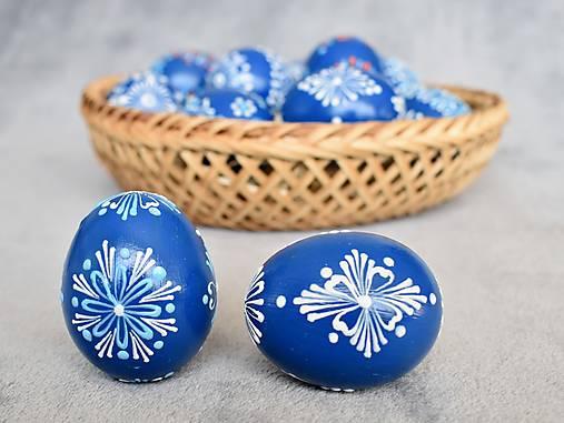 Dekorácie - Slepačia kraslica modrá  - 13057261_