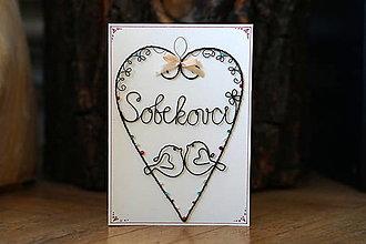Papiernictvo - Pohľadnica s vtáčikmi (Béžová) - 13053450_