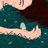 Grafika - Bílý jelen - umělecký tisk - 13060173_