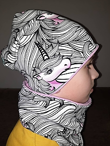 Detské čiapky - čiapka a nákrčník - 13061693_