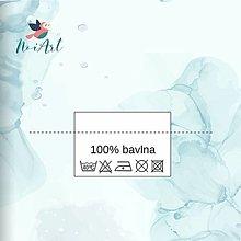Materiál ručne robený - Textilné etikety 3x2 cm sada 100 ks - 13061722_