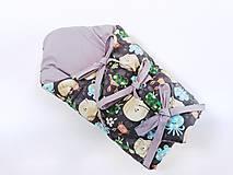 Textil - Zavinovačka s troma úväzmi morské zvieratká + sivá UNI - 13058765_