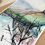 Kresby - Veža/ akvarelový originál by Richie Bumpkin - 13058606_