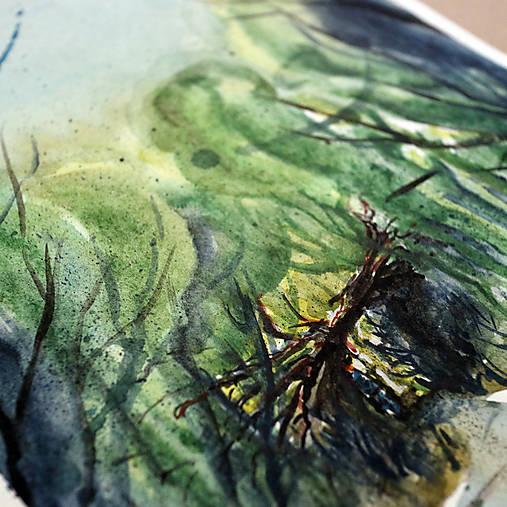 Vstúpte/ akvarelový originál by Richie Bumpkin