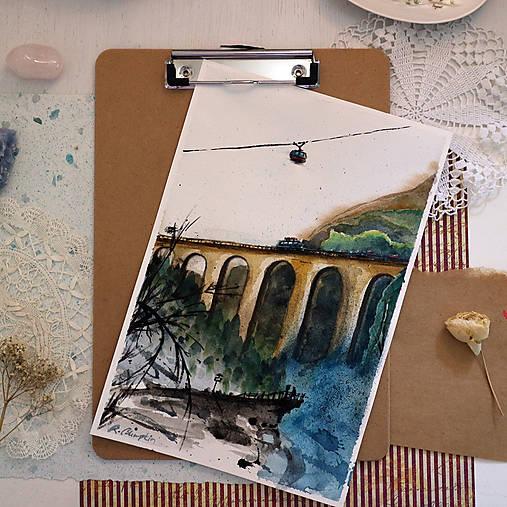 Tri cesty/ akvarelový originál by Richie Bumpkin