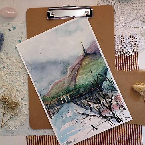 Veža/ akvarelový originál by Richie Bumpkin