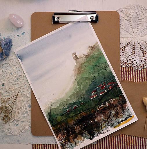 Močarisko/ akvarelový originál by Richie Bumpkin