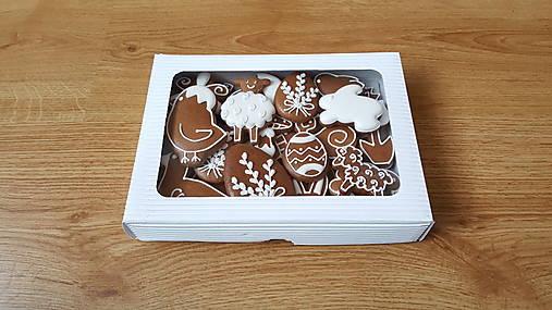 Dekorácie - Veľkonočné medovníčky - krabička - 13058077_