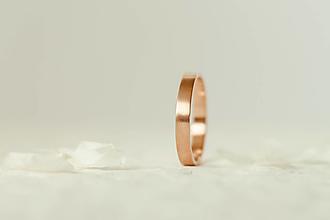Prstene - Zlatá obrúčka - Simple (3mm) - 13060005_