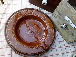 Nádoby - Hnedý maxi zapekací tanier - 13059797_