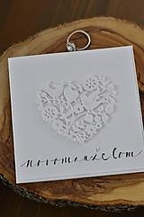 Papiernictvo - Svadobné blahoželanie - Jednoducho srdce - 13060217_
