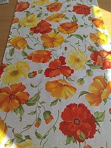 Úžitkový textil - Štóla divé maky 150c38 - 13059752_