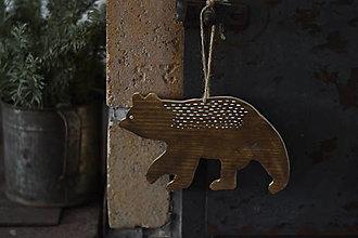 Dekorácie - Medveď - 13058629_