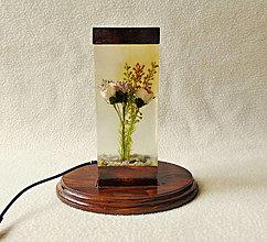 Svietidlá a sviečky - Stolná lampa Orosené ruže - 13060378_