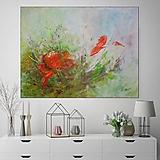 Obrazy - Kvet a motýľ 80x60 - 13058240_