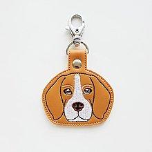 Kľúčenky - Kľúčenka psík bígl - 13058725_