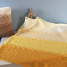 Textil - štvorfarebná deka *slniečko* : z Puffy Fine - 13059734_