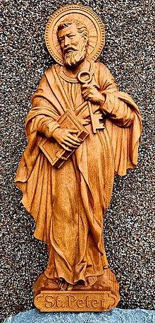 Dekorácie - Drevorezba Sv. Peter - 13060946_