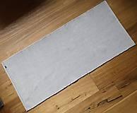 Úžitkový textil - Svetlošedý tkaný koberček do kúpelne, 55x130 cm - 13058708_