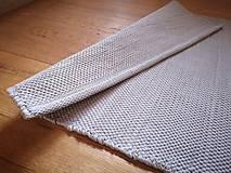Úžitkový textil - Svetlošedý tkaný koberček do kúpelne, 55x130 cm - 13058710_