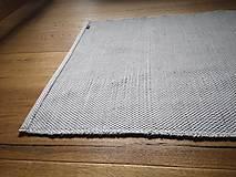 Úžitkový textil - Svetlošedý tkaný koberček do kúpelne, 55x130 cm - 13058711_