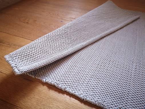 Svetlošedý tkaný koberček do kúpelne, 55x130 cm