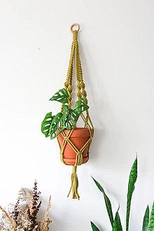 Dekorácie - Makramé držiak na kvetináč // set Kiwi & Oliander (Kiwi samostatne) - 13058973_