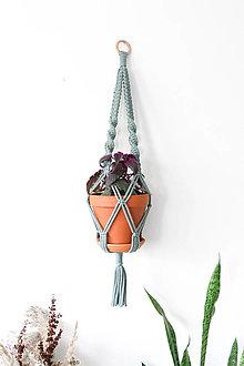 Dekorácie - Makramé držiak na kvetináč // set Kiwi & Oliander (Oliander samostatne) - 13058978_