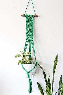 Dekorácie - Makramé držiak na kvetináč // Fikus - 13059026_
